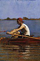 John Biglin in a Single Scull, 1874, eakins