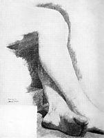 Legs of a Seated Model, eakins
