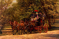 A May Morning in the Park ( The Fairman Robers Four in Hand), 1880, eakins