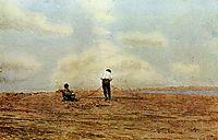 Mending the Net, 1882, eakins