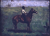 Negro boy on a bay horse, eakins