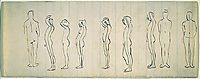Nine studies of a figure, eakins
