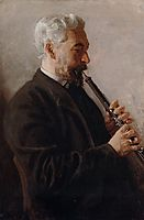 The Oboe Player, 1903, eakins