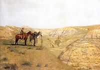 Painting Cowboys in the Bad Lands , 1888, eakins