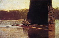 The Pair-Oared Scull, 1872, eakins