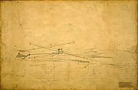 Perspective Drawing for The Biglin Brothers Turning The Stake, eakins