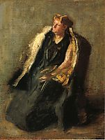 Portrait of Mrs. Hubbard (sketch), eakins