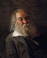 Portrait of Walt Whitman, 1887, eakins