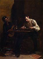 Professionals at Rehearsal, 1883, eakins