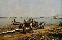 Shad Fishing at Gloucester on the Delaware River, 1881, eakins