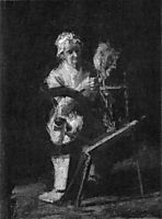 Sketch for In Grandmother-s Time , eakins