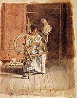 Spinning, 1881, eakins