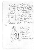 Studies for William Rush, 1876, eakins