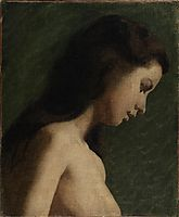 Study of a Girl-s Head, eakins