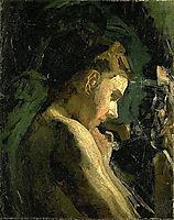 Study of a Girl-s Head , 1869, eakins