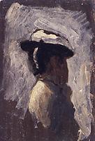 Study of a woman-s head, 1881, eakins