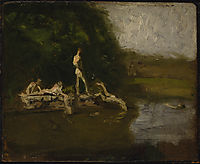 Swimming Hole sketch, eakins