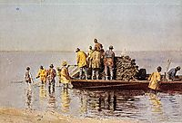 Taking up the Net, 1881, eakins