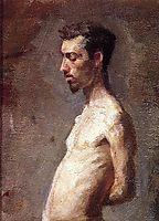 Wallace Posing, c.1883, eakins