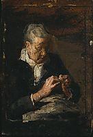 Woman Knitting, eakins