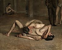 The Wrestlers, 1899, eakins