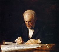 The Writing Master (Benjamin Eakins), 1882, eakins