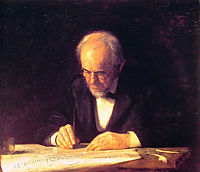 The Writing Master Portrait of the Artist-s Father, 1882, eakins