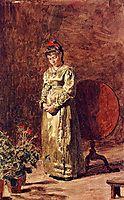 Young Girl Meditating, 1877, eakins