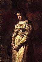 Young Girl Meditating (study), 1877, eakins