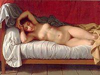 Lying Model in Bed, eckersberg