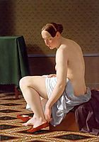 Nude Woman Putting On Her Slippers, eckersberg