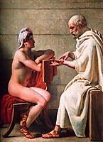 Socrates and Alcibiades, 1816, eckersberg