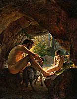 Ulysses Fleeing The Cave Of Polyphemus, eckersberg