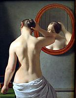 Woman Standing in Front of a Mirror, 1841, eckersberg