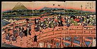 Children-s Pastimes: A Procession on Nihon Bridge, 1820, eisen