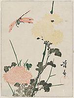Chrysanthemums and Dragonfly, eisen