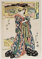 from the series Tôto meisho, Kokoro no nazo sugata awase, eisen