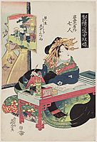 Goyu: Nanahito of the Sugata-Ebiya, 1823, eisen