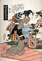 Guojo (Kakukyo) from the series Twenty-four Examples of Filial Devotion in the Floating World (Ukiyo nijushiko), eisen