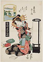 Miya: Yashio of the Ôgiya, 1823, eisen