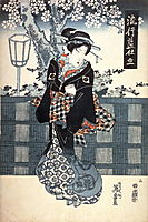 No. 2 (Ni) from the series Popular Indigo Clothing (Ryuko ai shitate) , 1835, eisen