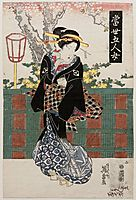 No. 2, from the series Modern Versions of the Five Women (Tôsei gonin onna), 1835, eisen