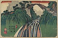 No.41 Distant View of Kanagawa Bridge near Nojiri Station, 1844, eisen
