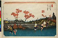 Omiya yado Fuji enkei (no.50), 1842, eisen