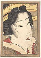 Rejected Geisha from Passions Cooled by Springtime Snow, 1825, eisen