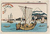 Returning Sails at Shiba Bay, 1847, eisen
