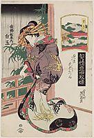 Seki: Shiratama of the Sano-Matsuya, 1823, eisen