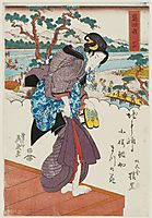Shimada Station (Shimada shuku), No. 24 from an untitled series of the Fifty-three Stations of the Tôkaidô Road 1830, eisen