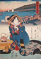 Shinagawa: Hot Tea, 1845, eisen