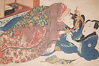 Shunga Scroll, 1838, eisen